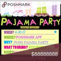 🏳️🌈✌️💕POSH PARTY! 💕 4/30/17💕✌️🏳️🌈 💕Kickback in your favorite PJs and please join me as I cohost my 3rd Posh Party on 4/30 @7pm 💕 Theme and cohosts TBD💕 Please let me know if you have never had a Host Pick & have a Posh compliant closet. 💕 Please tag a Posher who has gone the extra mile to help others and who you think deserves a HP!💕 YAY! ✌️💗😊 ✌️ Other