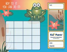Free website that needs a member login.  Printable chore (goal, behavior, sticker) charts!!!  Cute!