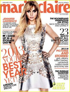 jennnifer lawrence magazines covers | Posted in Jennifer Lawrence Covers 'Marie Claire' South Africa January ...