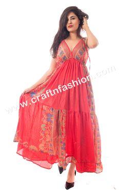 54363791a04 Floral Print Ibiza Style Maxi Dress  Craftnfashion  FashionableDress   WomenDress  BollywoodStyleDress  BeachWear. Craft   Fashion