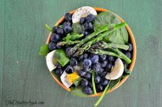 Blueberry, Asparagus and Spinach Salad {Gluten-Free, Dairy-Free, Vegetarian}