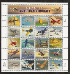 aviation postage stamps