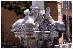 Fontaine des Quatre Dauphins (Fountain of the Four Dolphins). 17th century.  Quartier Mazarin.