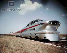 Aerotrain by GM. Why have we as a country stopped pioneering ideas? Streamline Art, New York Central Railroad, Station To Station, Art Deco Era, Steam Locomotive, Train Tracks, General Motors, Model Trains, Cool Cars