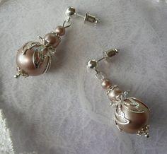 Bridal Pearl Earrings Wedding Earrings Silver Filigree Stud Earrings Vintage Wedding Dress Antique Jewelry Gift Wife Jewellery MaChericomau Pink Pearl Earrings, Pearl Earrings Wedding, Silver Drop Earrings, Bridal Earrings, Vintage Earrings, Wedding Jewelry, Jewellery Earrings, Flower Earrings, Stud Earrings