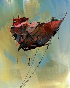 ArtStation - ship, Victor Hugo Harmatiuk - https://www.artstation.com/artwork/vRLWv