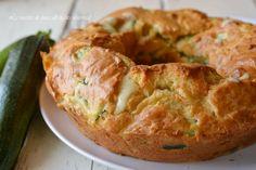Ciambella salata con zucchine,una ricetta sfiziosa da servire per antipasto o cena