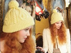 #24 Cabled Pompom Cap, Vogue Knitting Holiday 2012