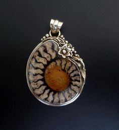 Image result for How to make a sterling silver bail for ammonite