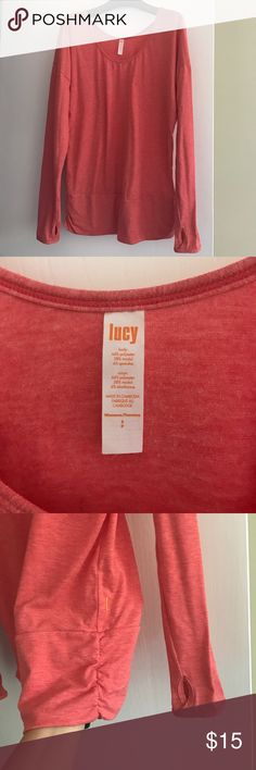 Lucy Activewear long sleeve tee shirt. EUC Lucy Activewear long sleeve oversized tee shirt. EUC-only worn one time Lucy Tops Tees - Long Sleeve