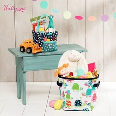 Thirty-One Easter Ideas. Mini Storage Bin and Littles Carry All Caddy