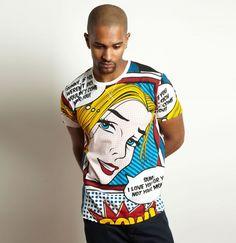 Pop Art T-Shirt By Criminal Damage #Lichtenstein #PopArt #Fashion