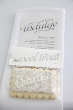 great combination: napkin, favor, and menu