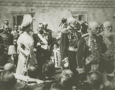 "Empress Alexandra Feodorovna of Russia and Tsar Nicholas ll of Russia during the Tercentenary in 1913. ""AL"""