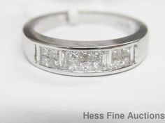 0.66ctw 18K White Gold Genuine Diamond Anniversary Band Ring #Band