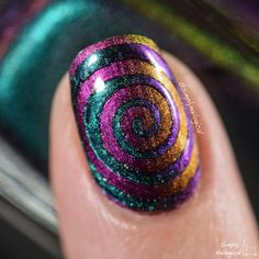 FUN Lacquer multi-chrome trippy cyclones by simplynailogical
