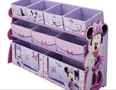 Delta Children's Products Minnie Deluxe Multi Bin Organizer, Add a splash of color to your little girls room with the Disney Minnie Mouse Deluxe Toy Organizer.  This sturdy and well-made Disney Minnie Mouse 9-bin toy organizer helps keep all the toys, books and..., #Toys, #Kids' Furniture, http://www.pylinks.com/store/item-B0091SHFAK