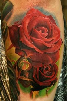 Phil Garcia red roses tattoo