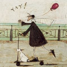 """ Yay! "" Sam Toft Open Greeting Card - ST983"