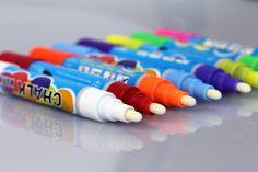 #Gainwell - Pennarelli a #gesso liquido, confezione da 8 colori vivaci
