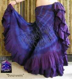 """Tanzanite"" 25 Yard Petticoat Skirt.  You can order yours or create your own color combo here:  http://www.paintedladyemporium.com/Shop-Here.html"