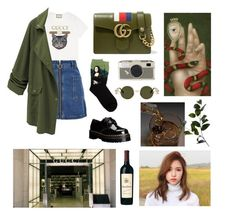 """#twice #mina #kpop #gucci"" by antipinaoxana ❤ liked on Polyvore featuring Dr. Martens, Gucci, Topshop, WithChic, Columbia, Kate Spade and Wyld Home"