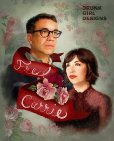 Fred & Carrie Portlandia Art Vintage by DrunkGirlDesigns on Etsy