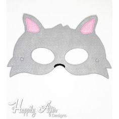 Gray Wolf ITH Mask Embroidery Design