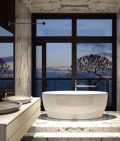 Bathroom ✨ #bathroom #bath #gorgeous #luxury #amazing #banheiro #iluminação natural # mármore