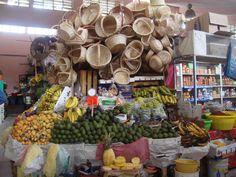 Puesto en el mercado de Puebla. MEXICO.