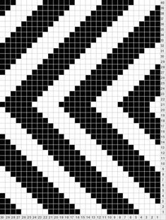 Best 12 Vertical Zigzag Tricksy Knitter Charts: Vertical ZigZag by Alison – SkillOfKing. Filet Crochet, C2c Crochet, Crochet Blocks, Crochet Chart, Crochet Stitches, Tapestry Crochet Patterns, Bead Loom Patterns, Beading Patterns, Cross Stitch Patterns