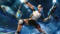Clint Badminton Champion by makinig Mobile Legend Wallpaper, Hero Wallpaper, Screen Wallpaper, The Legend Of Heroes, Gaming Wallpapers, Mobile Legends, One Punch Man, Badminton, Game Character