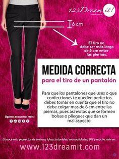 Si aún no sabías que el tiro del pantalón tiene una medida, aquí te dejemos este tip que seguro te ayudará a que tus pantalones te queden perfectos.