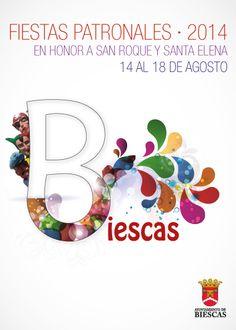 Cartel Fiestas Patronales Biescas 2014