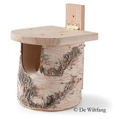 Nestkast voor roodborstje, berkenstam - Nestkasten - De Wiltfang