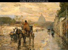 La Val du Grace, Spring Morning - Frederick Childe Hassam -