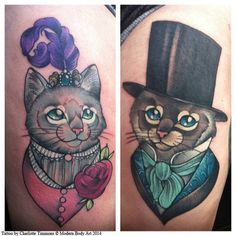Charlotte Timmons Modern Body Art 2, Neo Traditional Cat Tattoos