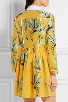 Fendi | Cotton-blend jacquard mini dress | NET-A-PORTER.COM