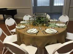 Nature inspired table decorated beautifully and hosted by Erin Wear.