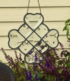 Clear Beveled Glass Window Hanging with Hearts connected. Has an antique finish. Handcrafted with unique beaded solder (zoom into see). Is a beautiful sun catcher that turns any window into a piece of art. Approximately 7 in x 7 in Glass Wall Art, Stained Glass Art, Stained Glass Windows, Gold Glass, Beveled Glass, Clear Glass, Antique Windows, Jewel Colors, Great Wedding Gifts
