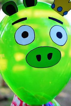 Pig balloon for angry birds party