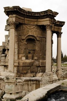 The Temple of Venus is in the Beqaa Valley of Lebanon in the town of Baalbek.  Known as Heliopolis during the period of Roman rule, it was one of the largest sanctuaries in the empire.  Venus was one of a triad of gods worshiped at the time;  the other two being Jupiter and Bacchyus.  Three separate temples were erected for the triad, between 1 BC and 2 AD.   by Brian McMorrow