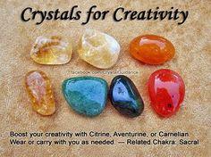 Crystals for Creativity - Citrine, Adventurine and Carnelian.