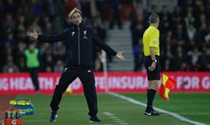 Liverpool's German manager Jurgen Klopp gestures to Liverpool's Hungarian goalkeeper Adam Bogdan after Southampton's Senegalese midfielder Sadio Mane. Liverpool Fc, South Hampton, Capital One, Red Books, Have A Laugh, Goalkeeper, Football, Face, American Football