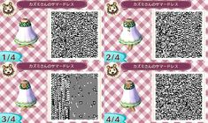 Animal Crossing New Leaf QR codes - plain white and green dress