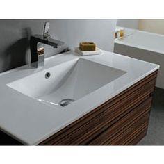 """Zoli Bathroom Vanities zoli zebrawood 23.625"""" wall mounted vanity with top, sink and opt"""