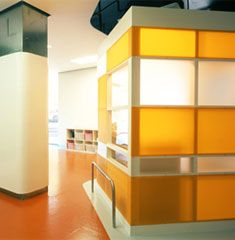 cercadelcielo designed this colorful kindergarten in Murcia, Spain, like an open space were the kids could run and play free. There are only three prefabricated boxes, semitransparent, that enclose more specific functions, such as kitchen and rest rooms.