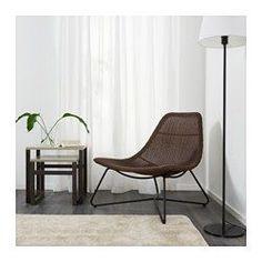 RÅDVIKEN Lenestol, mørk brun, svart - mørk brun/svart - IKEA