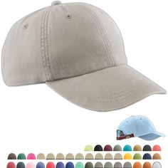 43690095170 Six-panel low-profile pigment-dyed cap made of 100% garment-washed cotton  twill  6-panel