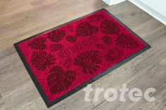 Laser engraved door mat - Free DIY instructions with recommended laser parameters for your Trotec laser. Trotec Laser, Laser Art, Diy Laser Engraver, Laser Engraving, Door Steps, Laser Cut Files, Textiles, Made Of Wood, Step By Step Instructions